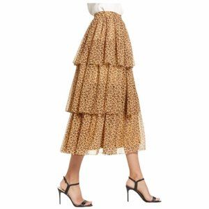Rachel Parcell | Tiered Ruffle Skirt Animal Floral